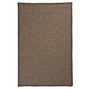 Colonial Mills Natural Wool Houndstooth 8-ft Square Caramel Area Rug
