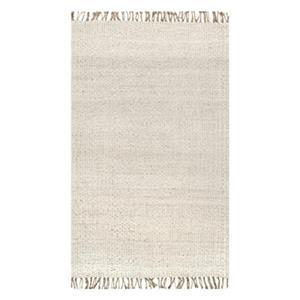 Benavides Tassel Off-White Area Rug