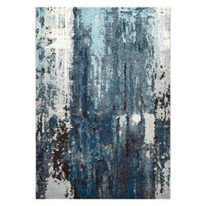 Abstract Haydee Blue Area Rug