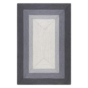 Braided Anne Ombre Border Grey Area Rug