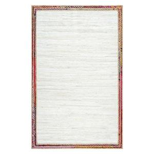Handwoven Braided Darline Ivory Area Rug