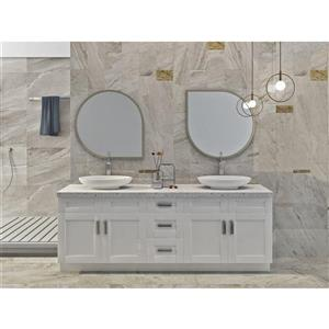 Cowry White 87-in x 21-in x 31.50-in Cabinet