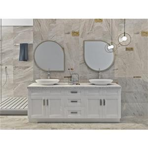 Cowry White 84-in x 21-in x 31.50-in Cabinet