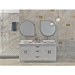 Cowry White 66-in x 21-in x 31.50-in Cabinet