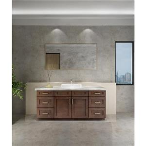 Cowry Brown 72-in x 21-in x 31.50-in Cabinet