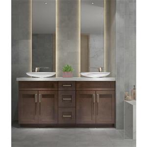 Cowry Cabinets Espresso 66-in Vanity Base