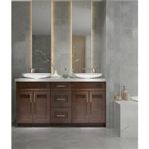 Cowry Cabinets Espresso 63-in Vanity Base