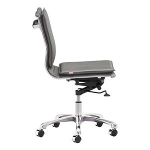 Zuo Modern Lider Office Chair  - 19.5-in - 23.4-in - Faux Leather - Gray