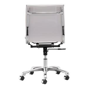 Zuo Modern Lider Office Chair - 19.5-in - 23.4-in - Faux Leather - White