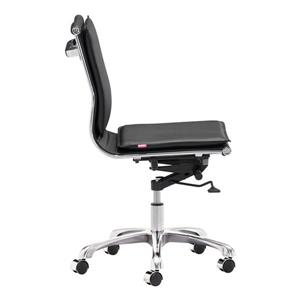 Zuo Modern Lider Office Chair - 19.5-in - 23.4-in - Faux Leather - Black