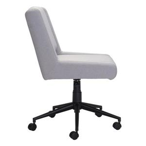 Zuo Modern Brix Office Chair  - 23.2-in x 21.8-in - Upholstered - Gray