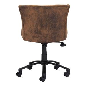 Zuo Modern Shaw Office Chair - 21.9-in - 21.9-in - Upholstered - Brown