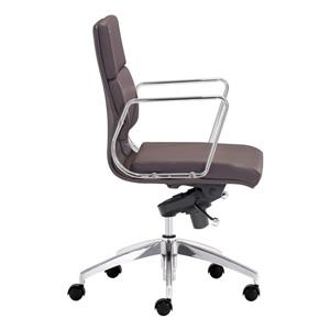 Zuo Modern Engineer Office Chair - 18.5-in - 20-in - Faux Leather - Brown