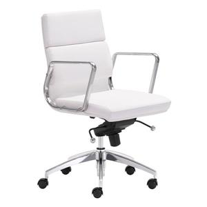 Zuo Modern Engineer Office Chair - 18.5-in - 20-in - White