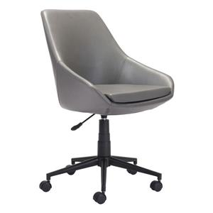 Zuo Modern Powell Office Chair - 18.5-in - 21.2-in - Upholstered - Gray