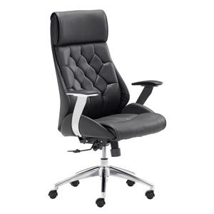 Zuo Modern Boutique Office Chair - 19.7-in - 21-in - Faux Leather - Black
