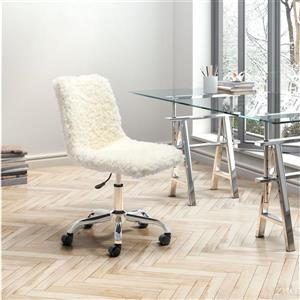 Zuo Modern Coco Office Chair - 19.7-in - 22.8-in - Upholstered - Ivory