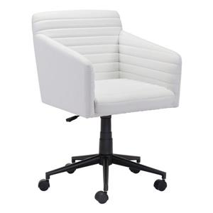 Zuo Modern Bronx Office Chair - 17.1-in - 20.9-in - Upholstered - White