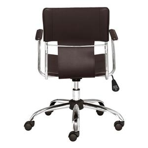 Zuo Modern Trafico Office Chair - 17-in - 21-in - Faux Leather - Espresso