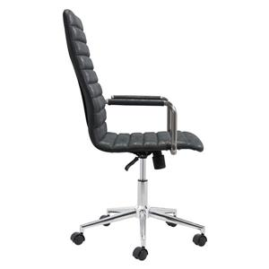 Zuo Modern Pivot Office Chair - 18.9-in - 21.6-in - Faux Leather - Black