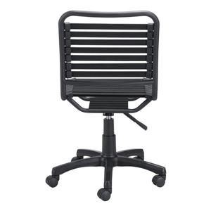 Zuo Modern Stretchie Office Chair - 17.7-in - 22-in - Faux Leather - Black