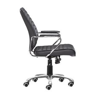 Zuo Modern Enterprise Office Chair - 20.5-in - Faux Leather - Black