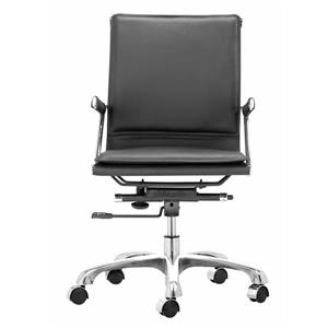 Zuo Modern Lider Office Chair - 24-in - 19-in - Faux Leather - Black