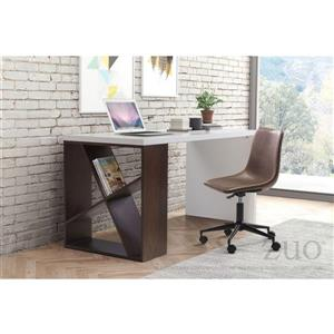 Zuo Modern Smart Office Chair - 18.5-in - 19.5-in - Faux Leather - Espresso