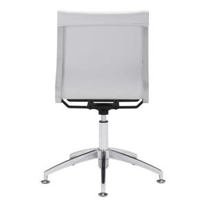 Zuo Modern Glider Office Chair - 19-in - 18.5-in - Faux Leather - White