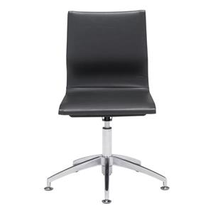 Zuo Modern Glider Office Chair - 19-in - 18.5-in - Faux Leather - Black