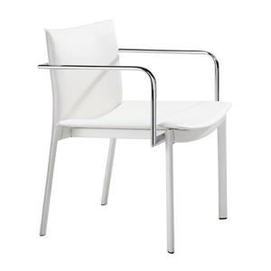 Zuo Modern Gekko Office Chair - 24-in - 17-in - Faux Leather - White