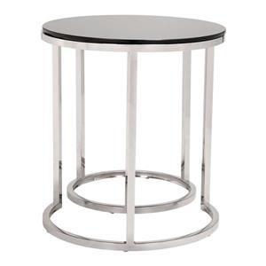 Zuo Modern 19.7-in x 22.2-in Black Glass Side Table