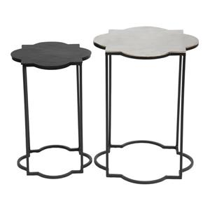 Zuo Modern Brighton Metal Side Table - 15.8-in x 20-in - Black