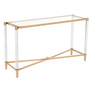 Zuo Modern Existential  52-in x 27-in Gold Glass Console Table