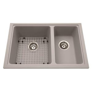 Kindred Granite Gray Franke Double Sink 27.56-in X 18.13-in