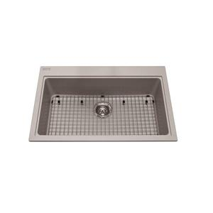 Kindred Franke 31.56-in X 20.50-in Grey Granite Single Sink