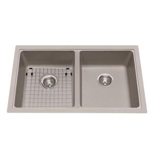 Kindred Granite Gray Franke Double Sink 33-in X 19.38-in