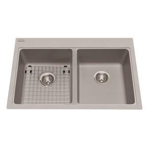 Kindred Franke 22-in X 33-in Grey Granite Double Sink