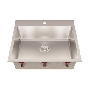 Kindred Franke 25-in X 22-in Stainless Steel Single Sink