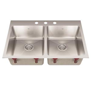Kindred Stainless Steel Franke Double Sink 31.25-in