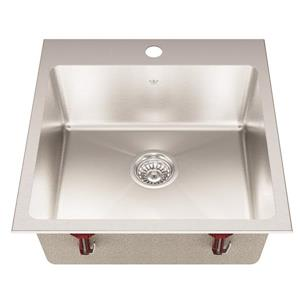 Kindred Franke 20.56-in X 20.13-in Stainless Steel Single Sink