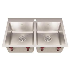 Kindred Stainless Steel Franke Double Sink 31.25-in X 20.56-in