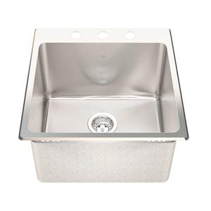 Kindred Franke 20.13-in X 20.56-in Stainless Steel Single Sink