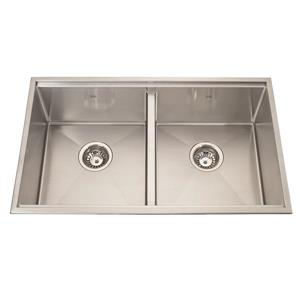 Kindred 30.50-in x 18.50-in Stainless Steel Double Sink
