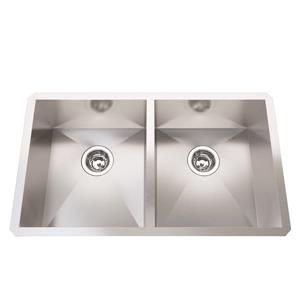 Kindred Stainless Steel Franke Double Sink 30.88-in X 17.88-in