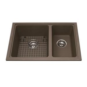 Kindred Granite Cappuccino Franke Double Sink 31.56-in