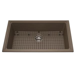 Kindred Franke 31.56-in X 18.13-in Brown Granite Single Sink