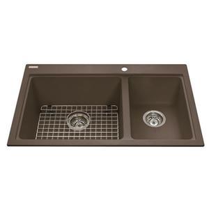 Kindred Granite Brown Franke Double Sink 20.5-in