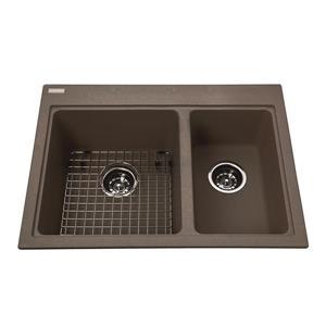 Kindred Granite Brown Franke Double Sink 27.75-in
