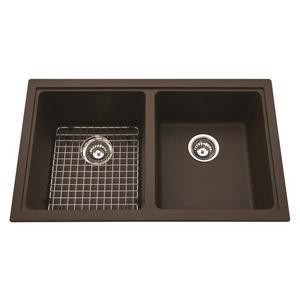 Kindred Granite Brown Franke Double Sink 33-in X 19.38-in